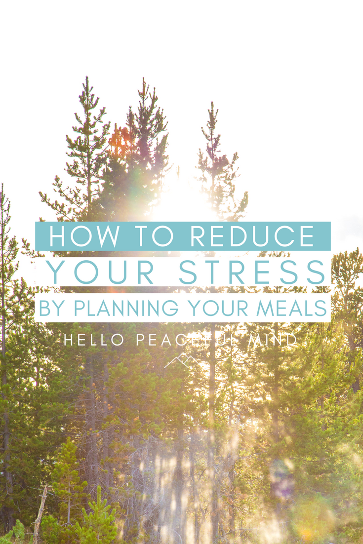 Meal planning totally changed my life, now I can relax instead of stressing out about dinner! This article is explaining well how to and the benefits of meal planning. Read it on www.HelloPeacefulMind.com