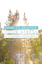 How To Reduce Your Stress By Planning Your Meals