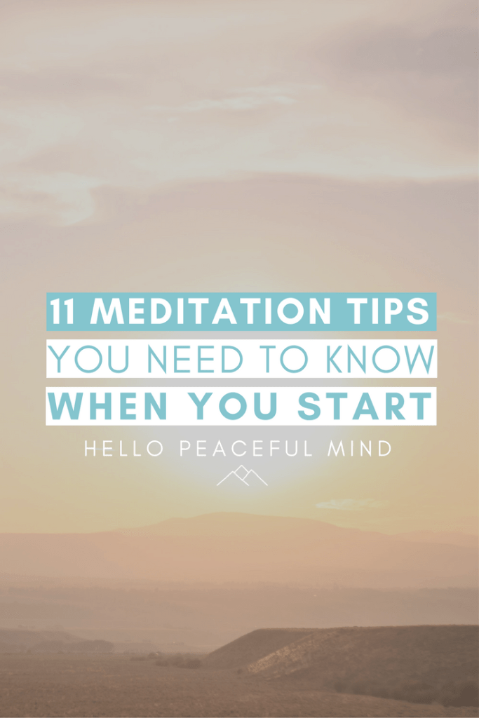 Do you want to begin meditation? Check out these 11 tips to help you meditate and become more mindful! Read the full article on www.HelloPeacefulMind.com