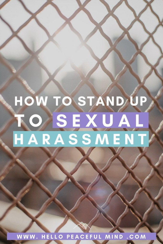 Read these 4 stories to learn how you can stand up to sexual harassment with these 4 stories. This guide will help men and women.