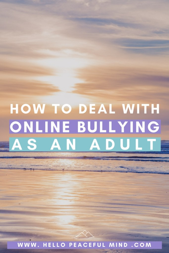 Online bullying is something that also happens with adults. Find out how you can deal with it and have a more positive experience on Facebook. Read the article on www.HelloPeacefulMind.com