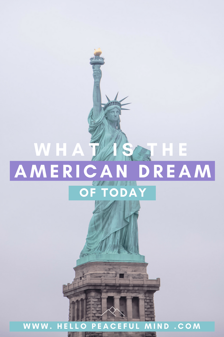 What is the American dream today? The definition of success is no longer about owning a house, a couple of cars, and having a family.