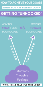 "How To Achieve Your Goals When You Are Down: Getting ""Unhooked"" Infographic"