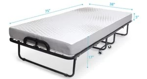 Milliard Diplomat Folding Bed – Twin Size Foldable Bed