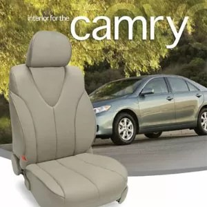 Toyota Camry SE Gray Leather Seat Cover & Custom Leather Interior