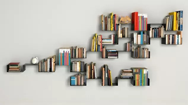 Wall with Books