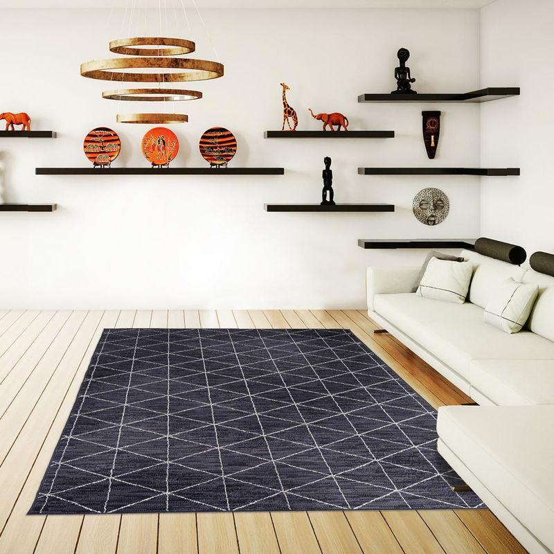 un amour de tapis petit tapis entree interieur tapis salon moderne design scandinave berbere geometrique tapis gris 60x110 cm unamourdetapis