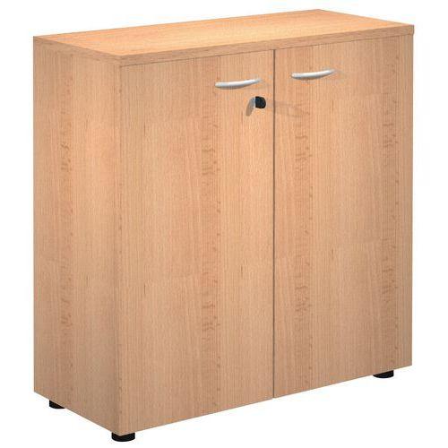 armoire basse portes battantes hetre solo