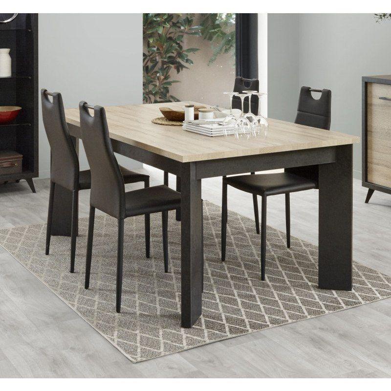 table de salle a manger industrielle mauricio table extensible chene deladeco