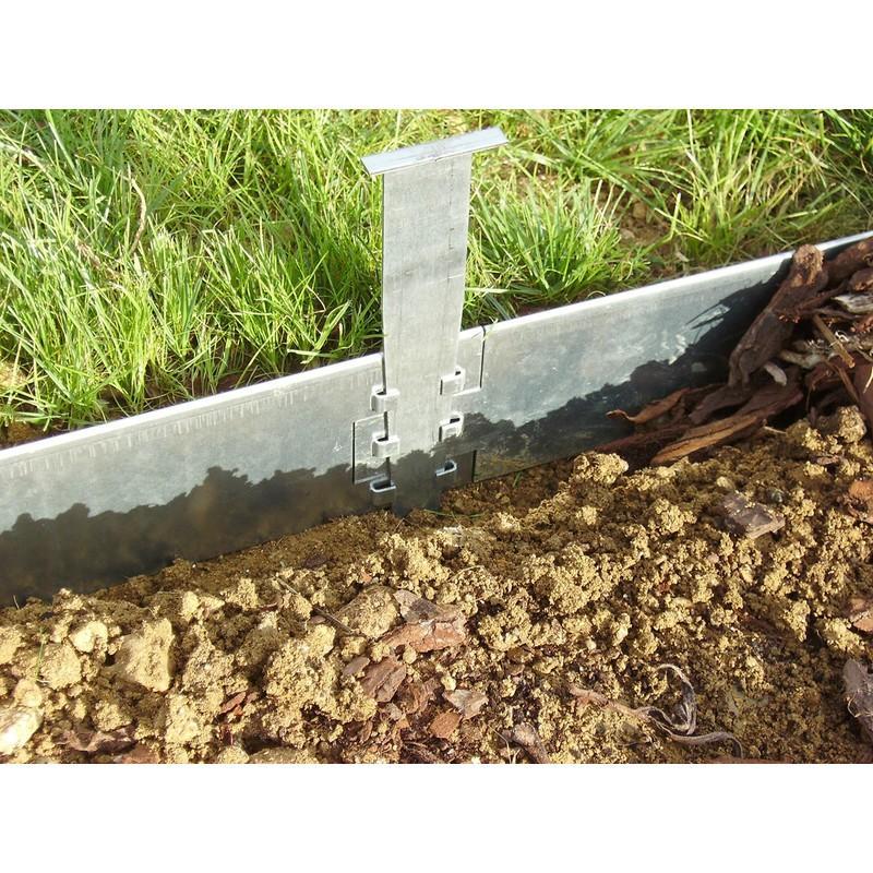bordure jardin metal 80 mm xquinc