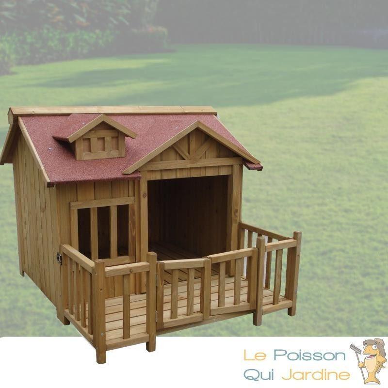 www lepoissonquijardine fr niche pour chiens ou chats l en bois d epicea longueur de 93 5 cm