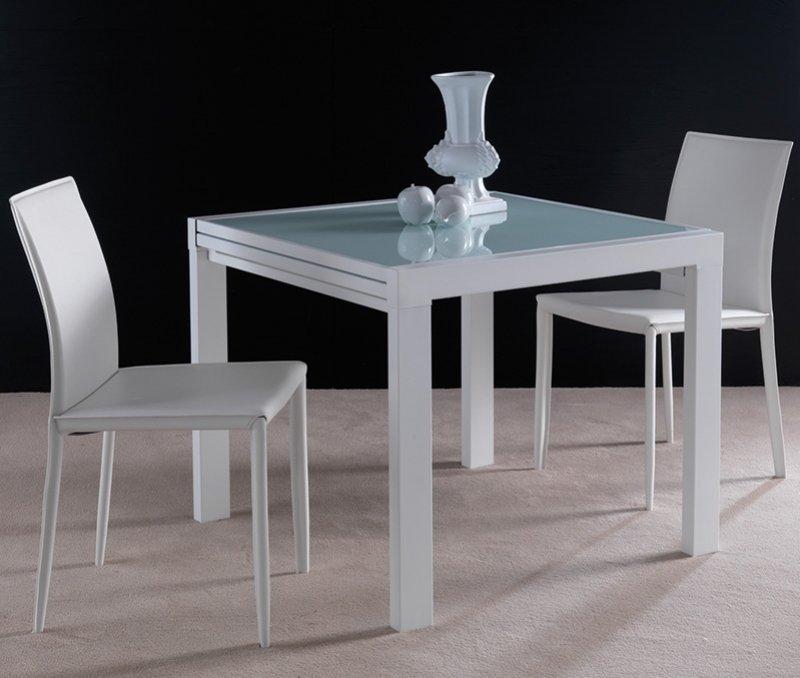 table repas extensible space en verre