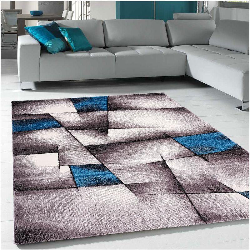 un amour de tapis grand tapis salon et salle a manger tapis salon moderne design poils ras tapis chambre turquoise tapis bleu gris 280x380 cm