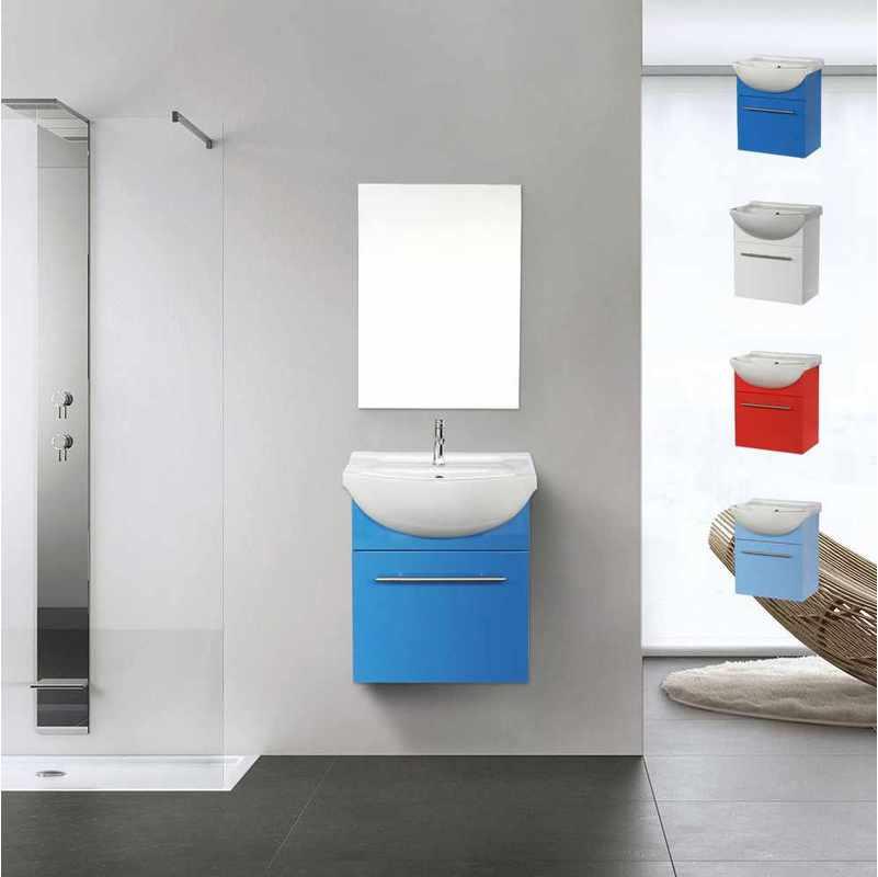 Arati Bath Shower Deco Pour La Salle De Bain Complet De Meuble Evier Et Miroir En Ceramique Et Acier Inox Couleur Bleu Arati Bath Shower Comparer Les Prix De