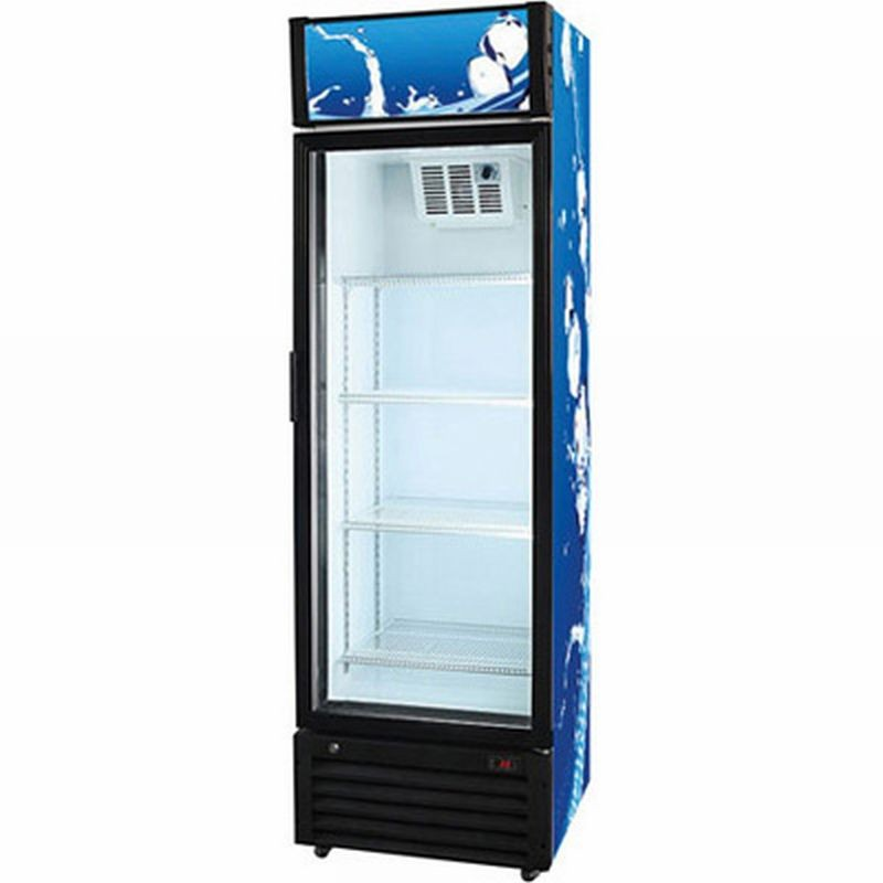 armoire refrigeree 1 porte vitree 360 l amatis