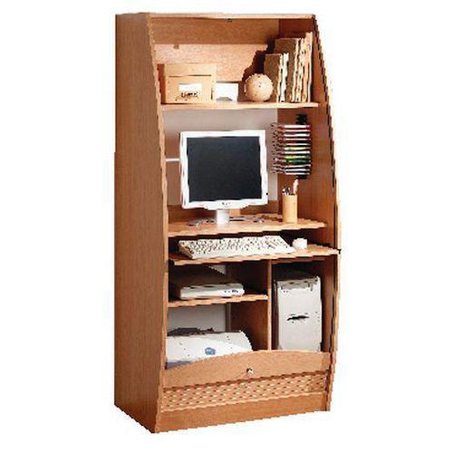 meuble multimedia solo largeur 80 cm merisier