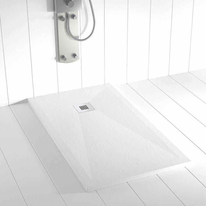 receveur de douche resine ples blanc ral 9003 100x190 cm