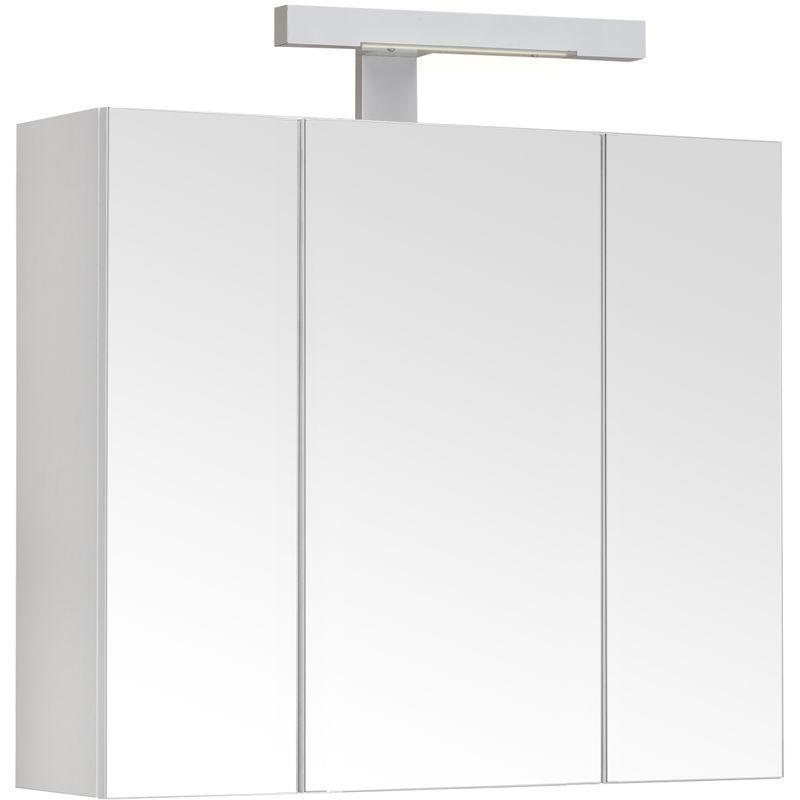 Armoire De Toilette Eclairante 60 Cm 3 Portes Miroirs Blanc Brillant Prise Ute Pian O Allibert Comparer Les Prix De Armoire De Toilette Eclairante 60 Cm 3 Portes Miroirs Blanc Brillant