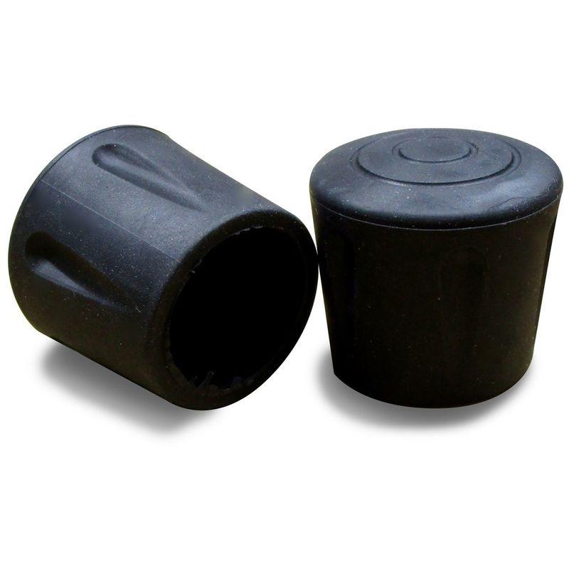 embout en caoutchouc renforce vulcanise noir pour pied de chaise et table diametre 30 mm ajile