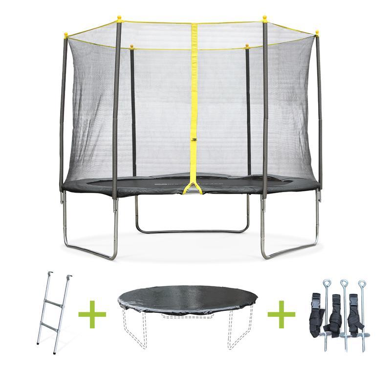 pack trampoline cm cabri avec filet chelle