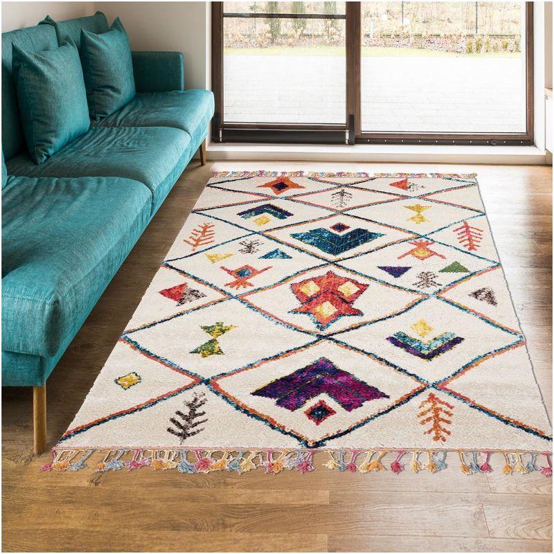 un amour de tapis tapis moderne pour salon design scandinave berbere ethnique grand tapis salon blanc 160x230 cm