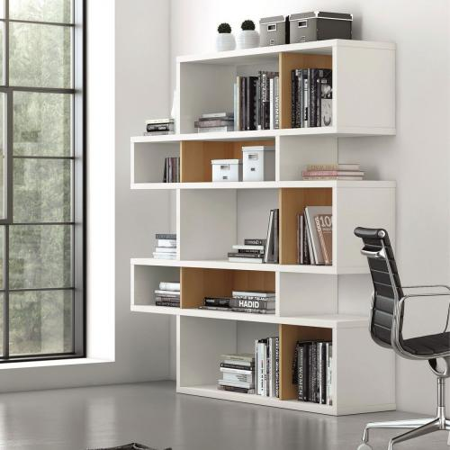meuble bibliotheque temahome etagere london 5 niveaux chene blanc