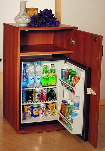 Minibar type meuble bar bois refrigere 60 litres kleo  kmb 60bbl