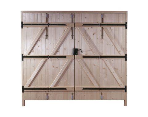 porte bois porte garage bois 2 vantaux