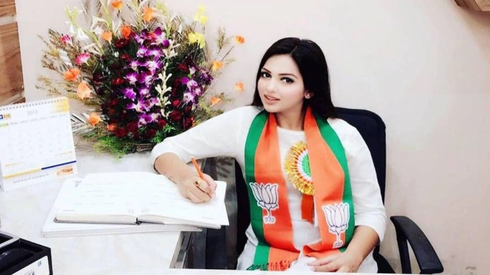 BJP, youth leader, car, police, Pamela goswami,