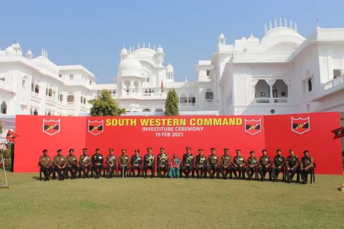 SOUTH WESTERN COMMAND, MILITARY STATION, Sena Medals, Army Commander,