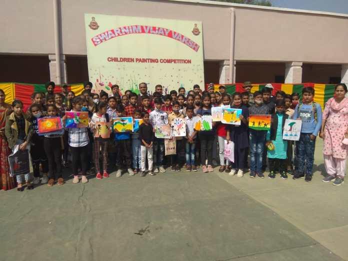 HEROES OF 1971 WAR , VICTORY, TRIBUTE, Swarnim Vijay Varsh Celebrations, Indian Army ,Battle of Nagi, School Children, Painting Competition, International Border, 18 Cavalry Regiment,