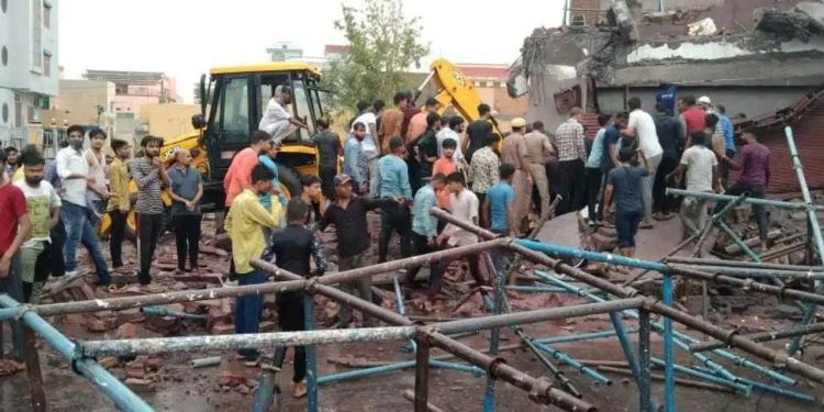 building collapse, building collapse In Bikaner, Bikaner Hindi News, Hindi News Bikaner, Gangasahar News,