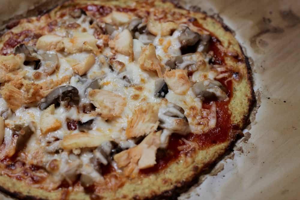 Cauliflower Pizza Crust BBQ Chicken Pizza