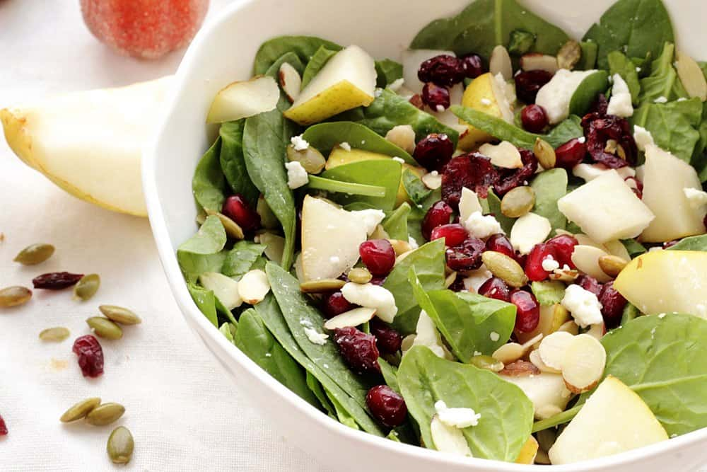 Pear, Pomegranate, and Pumpkin Seed Salad