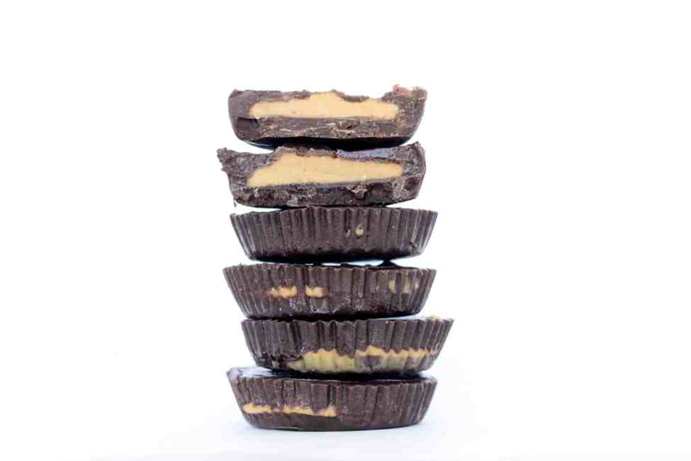 dark chocolate expresso peanut butter cups