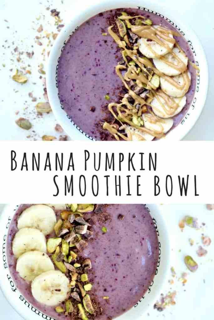 banana pumpkin smoothie bowl vegan gluten free