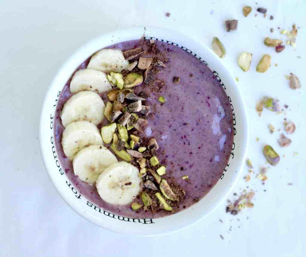 banana pumpkin smoothie bowl vegan gluten-free