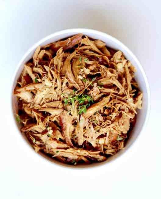 5 ingredient honey garlic chicken slow cooker recipe