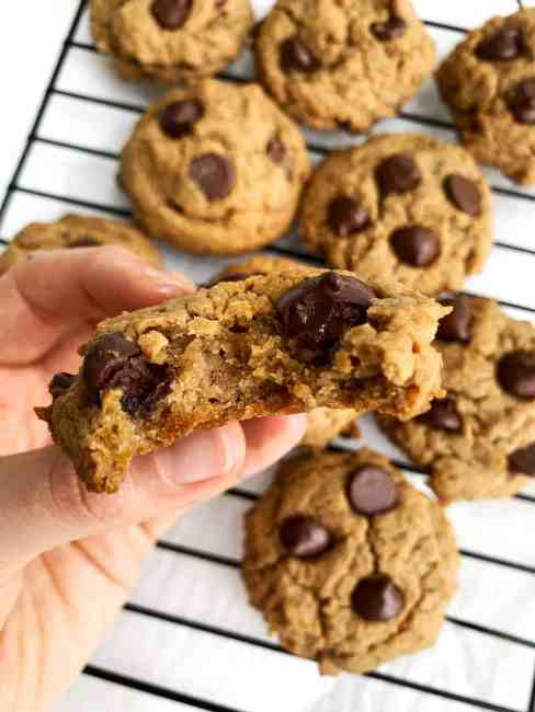 vegan and gluten free chocolate chip chickpea cookies