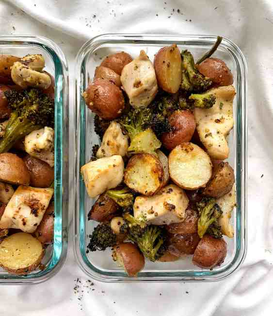 Healthy Lemon Pepper Chicken and Potatoes Sheet Pan Meal