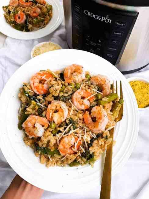 shrimp risotto pressure cooker