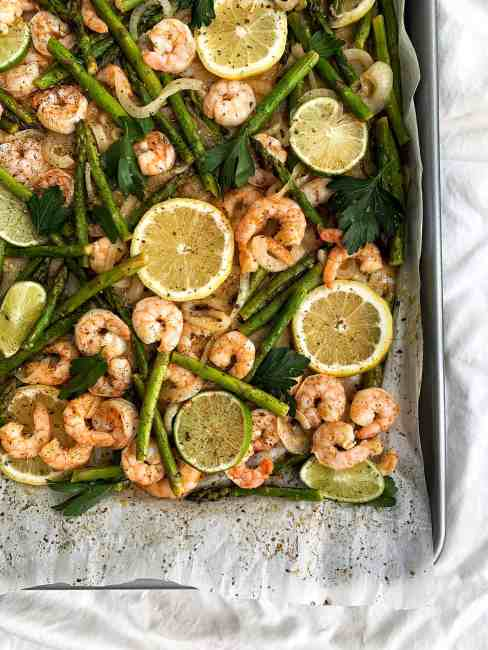 Healthy Citrus and Herb Shrimp Sheet Pan Meal