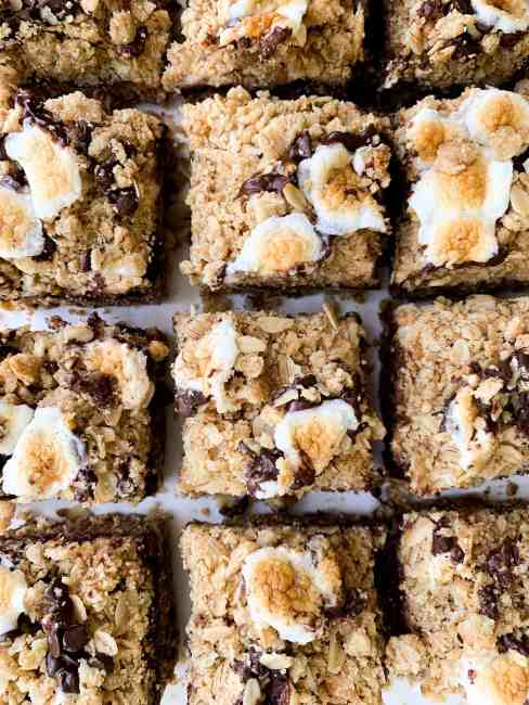 Oatmeal S'mores Cookie Bars