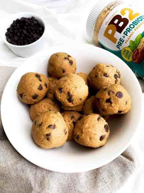 PB2 Chocolate Chip Cookie Dough Balls