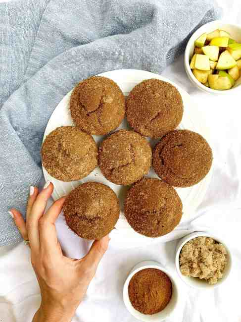 Applesauce Snickerdoodle Muffins made healthy