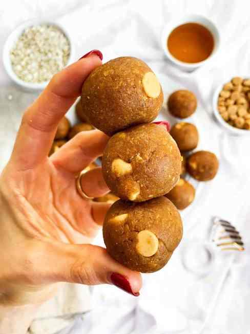 No Bake Pumpkin Protein Balls - Vegan, Gluten-Free
