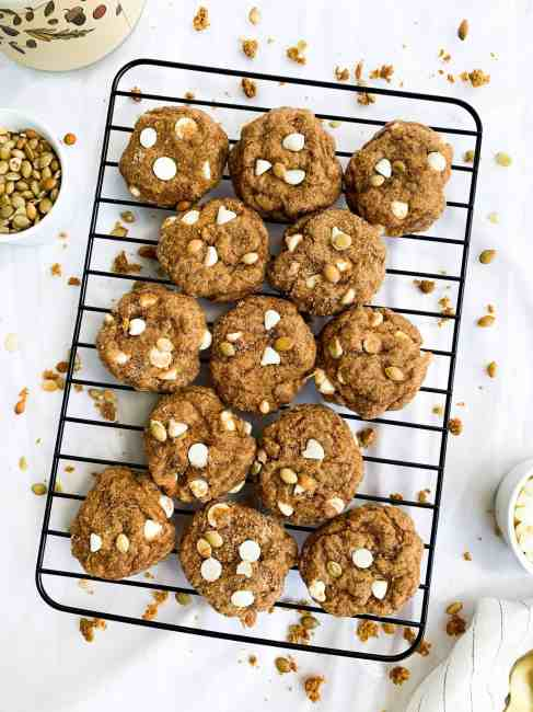 Pumpkin Snickerdoodle Cookies - Soft Baked with White Chocolate Chips