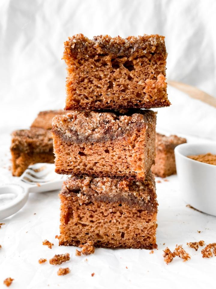 front view of 3 Paleo Coffee Cake