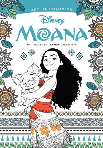 Moana adult coloring book