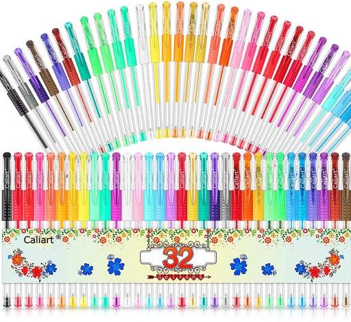 Caliart 32 Colors Gel Pen Set